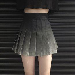 New Harajuku Taille Haute Vintage Plaid Jupes Courtes Filles Mini Plissée  Jupe Preppy Style Gradient Jupes 0307fed1a316