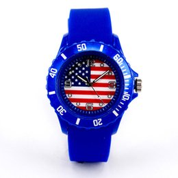 Wholesale Plastic Souvenirs - In Stock Sports Wristwatches 2018 Russia FIFA World Cup Flag Watches Fashion Gifts Souvenirs Plastic Silicone Watch Wholesale Hot Sale