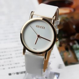 Wholesale Girls New Dresses - New Dress watches Girls Leather strp Rose gold 36mm Small dial reloj women watches Fashion Luxury Brand Quartz Watch Clock montre femme