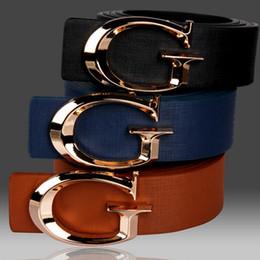 Wholesale G Men Belts - Ladies fashion Smooth G letter Brand Designer Belts for Women Fashion Buckle Belts Women Men Luxury Leather Belts for Unisex