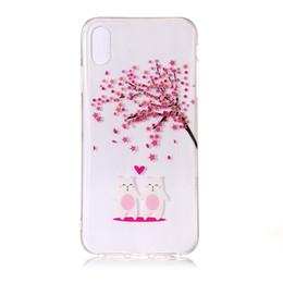 caso di fiore di ciliegio Sconti Per Iphone XS XS Plus Samsung Galaxy NOTE9 Cherry Blossom Flower TPU Custodia morbida Crystal Trasparente Albero Floral Rabbit Phone Copertura 20pcs