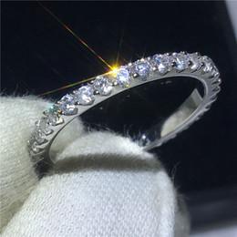 Eternal Female Promise bague 100% Soild 925 Sterling bijoux en argent rond 5A Zircon cz bague de fiançailles bagues pour femmes ? partir de fabricateur
