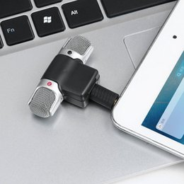 Mikrofon für pc großhandel online-Neue tragbare Mini Mic 3,5 mm Stecker Digital Stereo Mikrofon für Recorder PC Handy Großhandel für iOS iPhone Samsung