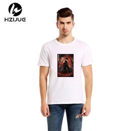 Wholesale Fashion News Men - HZIJUE 2017 News top quality cotton casual Life mens t shirts fashion short sleeve men tshirt men's tee shirts tops mens T-shirt