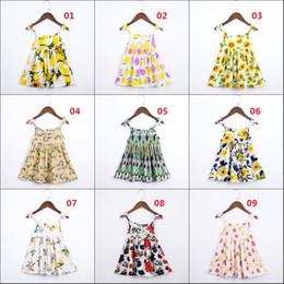 vestidos de festa de algodão para crianças Desconto Meninas do bebê vestido de verão crianças da criança floral print party vestidos de princesa crianças roupas de algodão confortável dia da menina dress