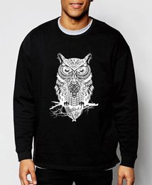 Coruja hoodies on-line-2019 nova primavera inverno moda coruja camisola animal hoodies estilo hip hop streetwear slim fit roupas de marca de treino homens