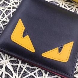 2018 новый дизайнер кошелек для мужчин высокое качество сумки США стиль натуральная кожа полосатый подкладка монстр смотреть кошельки дизайн от Поставщики вышитые сумки мобильного телефона