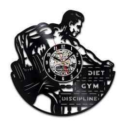 cadeau de bricolage pour le changement d'horloge 2018 Gym Horloge Murale Bodybuilder Décoration Idées Cadeaux pour Lui Garçons Chambre Articles Accessoires ? partir de fabricateur