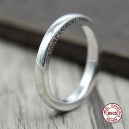 Отправить кольцо онлайн-s925 стерлингового серебра мужчины кольцо простой и элегантный ретро письма закрытая пара кольца классический стиль отправить подарок любовь Y1892606