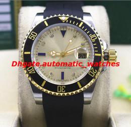 2019 bracelet en caoutchouc 2 Style De Luxe Bracelet En Caoutchouc Bracelet SS Diamant Lunette En Céramique MINT 40 MM Mécanique Automatique Hommes Montres Nouvelle Arrivée bracelet en caoutchouc pas cher