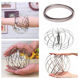 Flowtoy incrível anel de fluxo de brinquedos cinética primavera brinquedo engraçado jogo ao ar livre inteligente relaxar brinquedo fidget spinner eae10 de