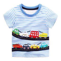 Wholesale Christmas Summer Shirts - Boys T-shirts Short Sleeve Tops 2018 Summer Brand Children Boys Clothes Kids Tee Shirt Cotton Character Print Baby Boy Clothing