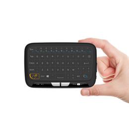 беспроводной google tv Скидка Мини-H18 беспроводная клавиатура 2.4 G портативная клавиатура с сенсорной панелью мыши для Windows Android / Google / Smart TV Linux Windows Mac