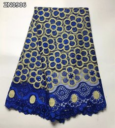 nigerian guipure lace dresses Coupons - French African lace fabric high quality embroidered Nigerian net lace with guipure lace fabric 5 yards for lady dress ZN09