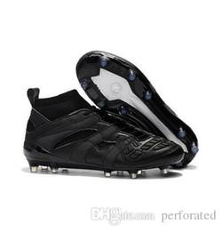 sapatos de couro beckham Desconto 2018 Original Predator Acelerador DB Sapatos de Futebol Homens David Beckham Chuteiras De Futebol Para Homens De Couro Fg Botas De Futebol Barato Branco Preto Vermelho