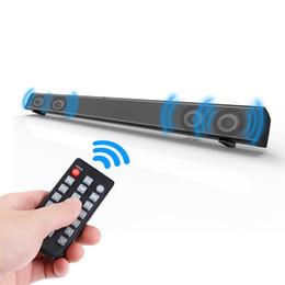 Systèmes de haut-parleurs bluetooth pour la maison en Ligne-Barre de son 4 * 10W pour TV Haut-parleur sans fil 3D Home Cinéma Système de sonorisation Super Bass Stéréo Subwoofer Box pour TV / PC / Smartphone, télécommandé