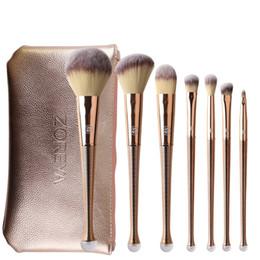 Zoreya make-up pinsel set online-ZOREYA Mode 8 stücke Meerjungfrau Make-Up Pinsel Sets Tragbare Professionelle Nylon Haar Make-up Pinsel Set Werkzeuge