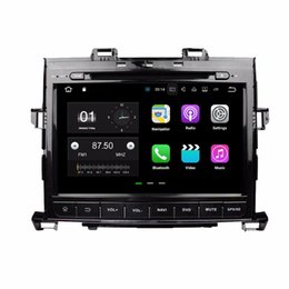 "Wholesale Rear Console - Android 7.1 Quad Core 9"" Car DVD Car radio dvd GPS Multimedia Head Unit for Toyota Alphard 2007-2013 With Bluetooth WIFI Mirror-link"