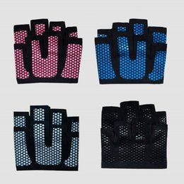 Wholesale Gym Fitness Gloves Wholesale - Creative Four Fingers Glove Sports Fitness Barbell Weightlifting Half Finger Gloves Non Slip Breathable Mittens For Adults 12sd B