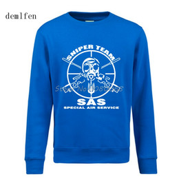 Wholesale United Forces - New Sas Special Air Service British Army United Kingdom Special Force Sniper Men's Hoodies Casual Printed Pullover Sweatshirt