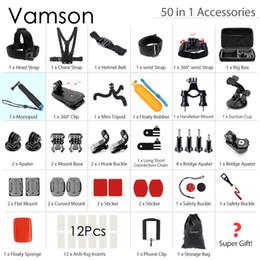 2019 kits de limpeza de lentes de câmera Vamson para gopro conjunto de acessórios para gopro hero 5 4 3 montar para xiaomi yi sjcam sj4000