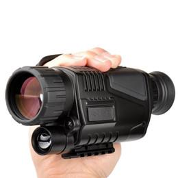 telecamera di visione notturna Sconti 5 x 40 Visione notturna a raggi infrarossi Visore notturno monoculare Visione digitale a infrarossi per telescopio da caccia a lungo raggio con fotocamera integrata