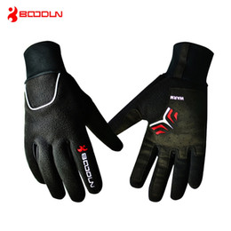 Wholesale Thermal Cycle Gloves - Brand Windproof Fleece Bicycle Gloves Winter MTB Bike Thermal Guantes de po Bicicleta Men Full Finger Cycling Gloves Luvas de goleiro