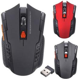 ratón lindo para la computadora Rebajas 2,4 GHz Wireless Mini ratón óptico del juego Receptor ratones USB para PC portátil