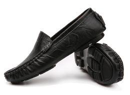 Мужская кожаная обувь ручной работы онлайн-Плюс размер 37-48 скольжения на натуральной кожи ручной работы мужские мокасины мужчины повседневная мокасины мужской офис обувь мокасины Zapatos Hombre dh2H15