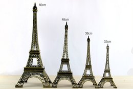 metal decorations for crafts Coupons - Vintage Design 3D Paris Eiffel Tower Metallic Model Bronze Color Craft for Wedding Gift Shooting Prop Home Decoration Supplies