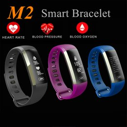 Wholesale Android Display Monitor - M2 XIAOMI Fitness tracker Watch Band Heart Rate Monitor Waterproof Activity Tracker Smart Bracelet Pedometer Call remind With OLED Display