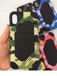 2019 camo couvre iphone Camouflage Armée Cas pour iPhone X Robuste Camo Armure Couverture Arrière Protecteur Antichoc pour iPhone X 8 7 plus Samsung Note8 S8 J3 2017 Huawei P9 camo couvre iphone pas cher