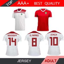 2019 camisetas de fútbol rojo 2018 World Cup Morocco home away third Jersey  de fútbol 2018 d4be009de7b9e