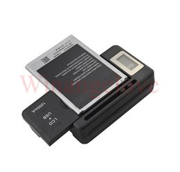 Wholesale battery charge indicator - Universal Intelligent LCD Indicator battery Charger For samsung GALAXY S4 I9500 S3 I9300 NOTE 3 S5 with usb output charge