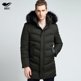 Wholesale Cuff Ribbing - HAI YU CHENG 2017 Long Coat RIB Cuff Thick Parka Male Warm Winter Jackets Men Clothings With Fur Hooded