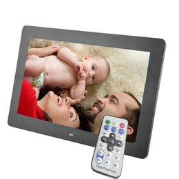 Wholesale Digit Cards - 10 inch LED Backlight Screen Digital Photo Frame Electronic Album Picture Music MP3 MP4 512MB 2GB 4GB 8GB Porta Retrato Digit