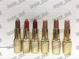 Wholesale Limited Edition Makeup - Factory Direct DHL Free Shipping New Makeup Lips Snowball Limited Edition Holiday Matte Lipstick!6 Different Colors