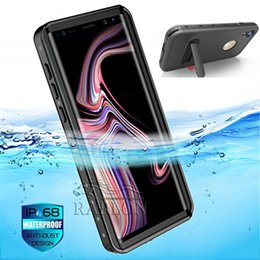 sealing plastic for iphone Promo Codes - 2018 Designer Waterproof Bracket Phone Case Underwater Full Sealed Cover IP68 Certified With Built-in Screen Protector For iPhone XS Max XR