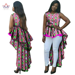 Wholesale Wax Dress For Women - Dashiki African Wax Print Long Dresses for Women Fashion Sexy Bohemian Traditional Bodycon Dress Plus Size Office Party Bazin Riche Dress