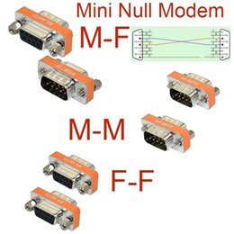 Wholesale Gender Changer Adapter - High Quality Mini Null Modem DB9 Female Male plug Adapter Gender Changer cross Free shipping
