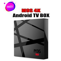 2gb ram 8gb bluetooth hdmi online-2018 Großhandels-M9S 4K Android Fernsehkasten RK3229 Viererkabel-Kern Android 6.0 4K Marshmallow RAM 2GB ROM 8GB Wifi HDMI 2GB RAM 8GB Bluetooth