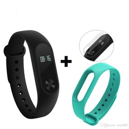 Wholesale xiaomi waterproof - Global Version Xiaomi Mi Band 2 miband 2 Smartband OLED display touchpad heart rate monitor Bluetooth 4.0 fitness tracker