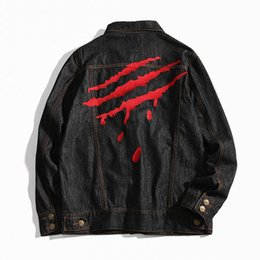 Wholesale Claw Machines - Europe and the United States tide SUAMoment men and women fashion hip-hop jacket claw marks machine embroidery young men's baseball jacket