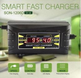 Wholesale battery fast charger - 12V 6A Smart Fast Car Battery Charger Intelligent Fast Power Charging Wet Dry Lead Acid Digital LCD Display KKA4858