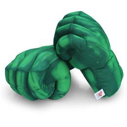 Luva de luva de hulk on-line-Hulk Spiderman Luvas de Boxe Luva de Pelúcia De Pelúcia Soco Punho Quatro Escolha Esquerda Mão Direita Frete Grátis