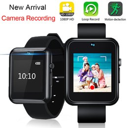 Canada Détachable HD 1080 P Vidéo Photo Caméra Enregistrement Smart Watch Band Bande Smartwatch Bracelet Objectif Micro Cam Dispositif Portable cheap wearable cam Offre