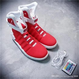 Wholesale Netted Shoes - Air mag Back to the Future McFly LED Mens Mag back to the future Basketball Shoes Mens lighting Luxury Grey Boots MAGS With Original box