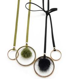 Wholesale Ladies Fur Sweater - Belt Ladies Decorative Round Clasp Dresses Simple Circle With Sweaters Fur Knit Trousers Belt Waist F0070