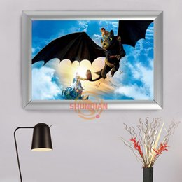 Wholesale Purple Wall Canvas - how to train your dragon Custom Frame Painting Canvas Prints Wall Art Poster For Living Room Decoration H322bz43mi