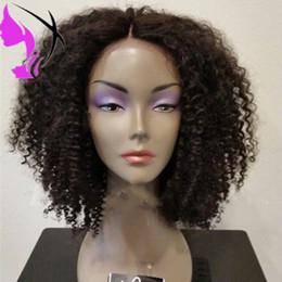 2019 lockige perücken für afroamerikanerinnen Hotsales Bob Stile synthetische Lace Front Perücken für Afroamerikaner schwarze Frauen kurze Afro verworrene lockige Perücke mit Babyhaar